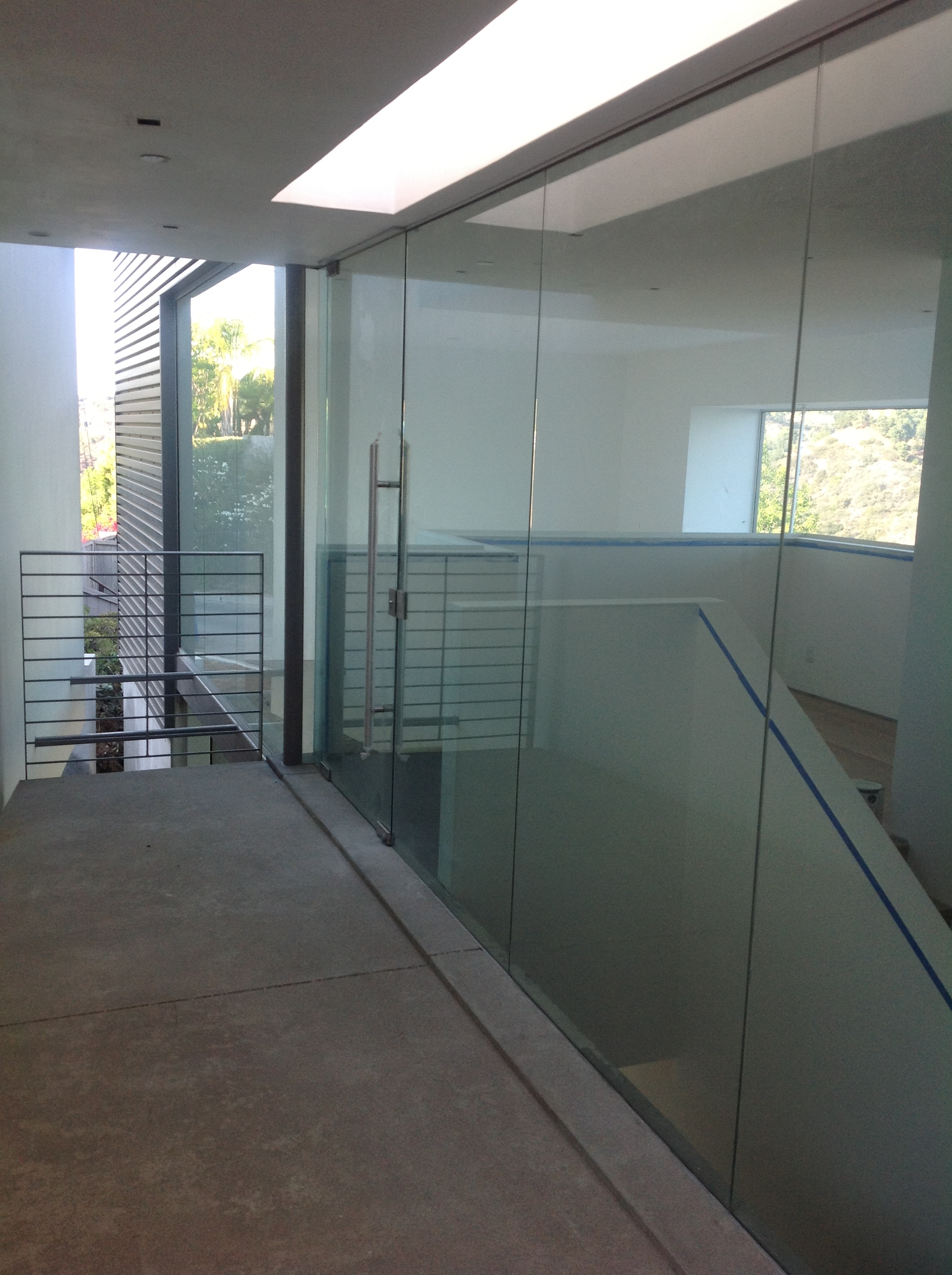 New multi slide doors installation hollywood hills by for High end front doors