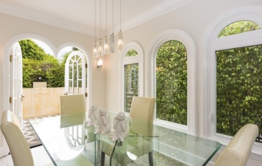 Recent Tashman home installation of windows in Faye Dunaway's house