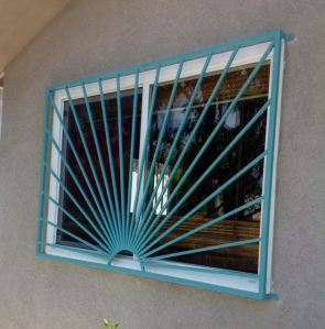 Custom sunburst window security guard silver lake
