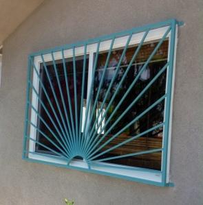 Custom sunburst window security guard silver lake