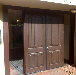 Fiberglass front entry doors condo w. hollywood